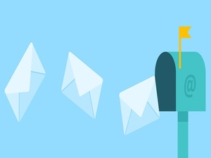 envelopes in mailbox