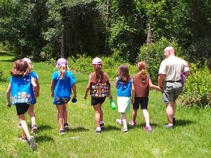 girl scouts hiking