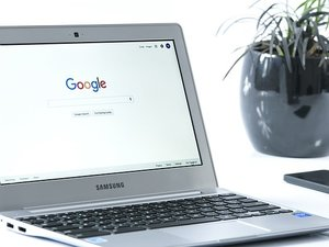 google on a laptop