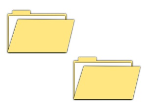 two file folders