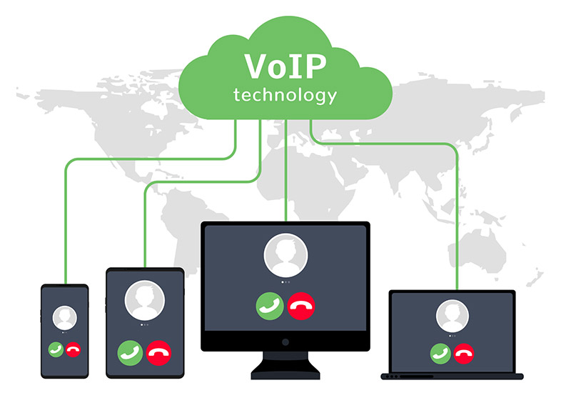 voip cloud illustration
